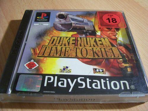 PlayStation 1 PS1 Spiel - Duke Nukem - Time to Kill PSone PSX USK 18 komplett + Anleitung gebr.