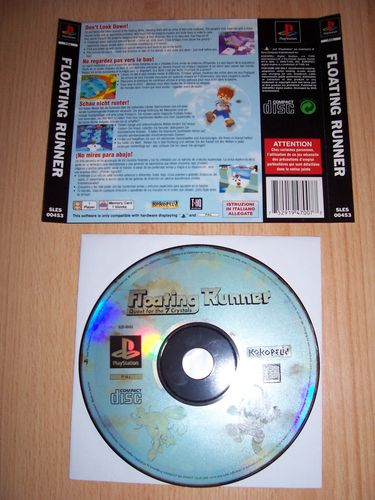 PlayStation 1 PS1 Spiel - Floating Runner - Quest for the 7 Crystals PSone PSX  USK 0  nur CD  gebr.