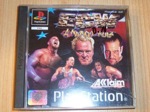PlayStation 1 PS1 Spiel - ECW Anarchy Rulz  PSone PSX  USK 16  - komplett ohne Anleitung  gebr.