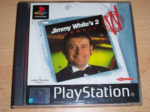 PlayStation 1 PS1 Spiel - Jimmy White's Cueball 2 Billard PSone PSX USK 0 komplett ohne Anleit gebr.