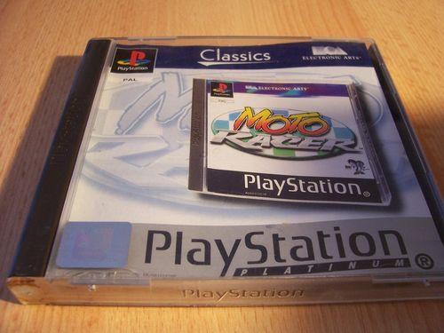 PlayStation 1 PS1 Spiel - Moto Racer 1 Platinum  PSone PSX  USK 0  - komplett ohne Anleitung  gebr.