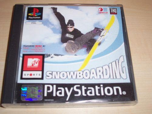 PlayStation 1 PS1 Spiel - MTV Sports - Snowboarding PSone PSX USK 0 - komplett ohne Anleitung gebr.