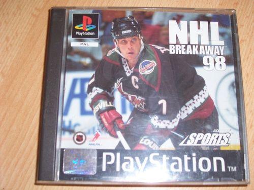 PlayStation 1 PS1 Spiel - NHL Breakaway 98 1998 '98 PSone PSX  USK 0 - komplett ohne Anleitung gebr.