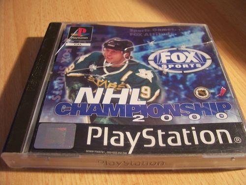 PlayStation 1 PS1 Spiel - NHL Championship 2000  PSone PSX  USK 0  - komplett mit Anleitung  gebr.