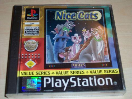 PlayStation 1 PS1 Spiel - Nice Cats Value Series  PSone PSX  USK 0  - komplett ohne Anleitung  gebr.