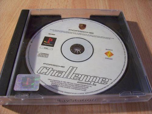 PlayStation 1 PS1 Spiel - Porsche Challenge  PSone PSX  USK 0  - komplett Frontcover fehlt gebr.