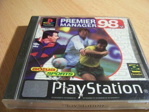 PlayStation 1 PS1 Spiel - Premier Manager 98 1998  PSone PSX  USK 0  - komplett mit Anleitung  gebr.
