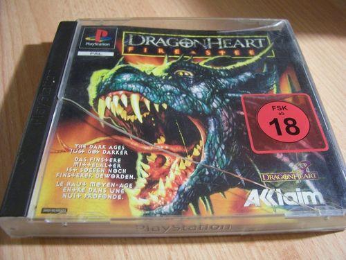PlayStation 1 PS1 Spiel - Dragonheart: - Fire & Steel PSone PSX USK 18 komplett + Anleitung  gebr.