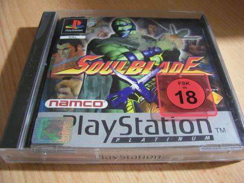 PlayStation 1 PS1 Spiel - Soulblade Platinum  PSone PSX  USK 18  - mit Anleitung  gebr.