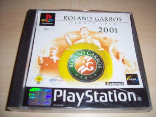 PlayStation 1 PS1 Spiel - Roland Garros French Open 2001  PSone PSX USK 0 komplett ohne Anlei. gebr.