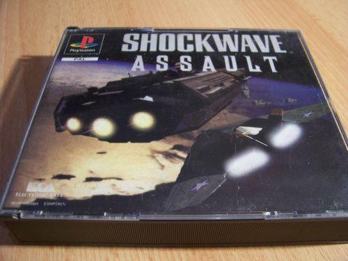 PlayStation 1 PS1 Spiel - Shockwave Assault  PSone PSX  USK 12  - 2CDs komplett mit Anleitung  gebr.