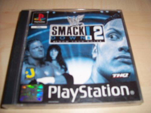 PlayStation 1 PS1 Spiel - WWF SmackDown 2  PSone PSX USK 16 komplett ohne Anleitung gebr.