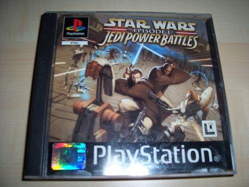 PlayStation 1 PS1 Spiel - Star Wars Episode 1 Jedi Power Battles PSone PSX USK 12 komplett ohn gebr.