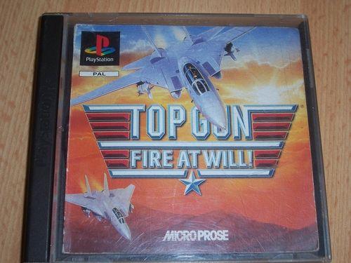 PlayStation 1 PS1 Spiel - Top Gun - Fire at Will!  PSone PSX  USK 12 - mit Anleitung  gebr.