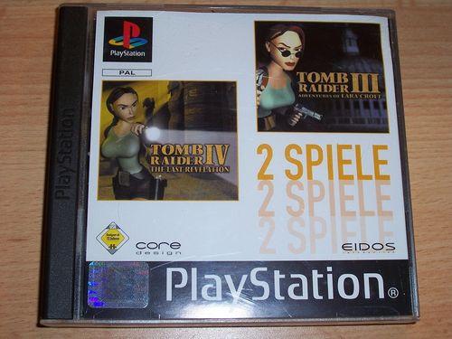 PlayStation 1 PS1 Spiel - Tomb Raider 3 + 4 III IV  PSone PSX USK 12 - komplett ohne Anleitung gebr.