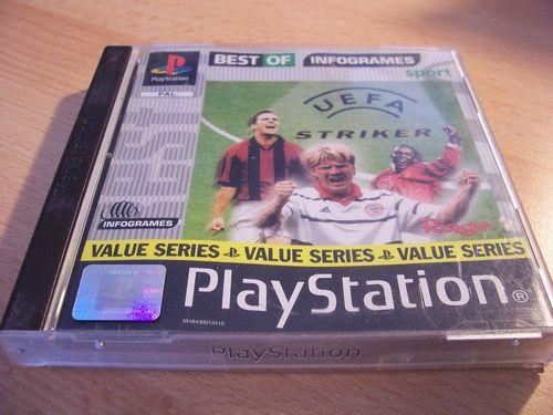 PlayStation 1 PS1 Spiel - UEFA Striker Value Series  PSone PSX USK 0 - komplett mit Anleitung  gebr.