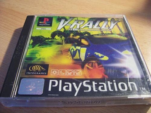 PlayStation 1 PS1 Spiel - V-Rally 1  PSone PSX  USK 6  - komplett ohne Anleitung  gebr.