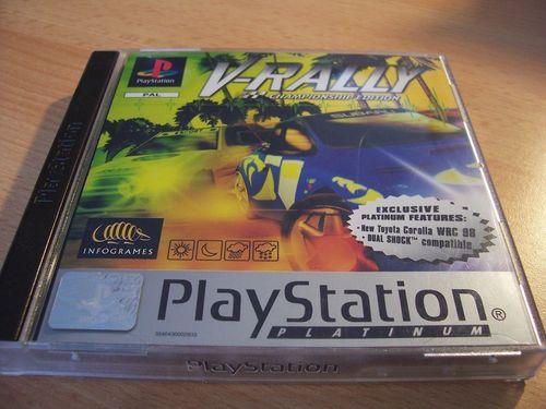 PlayStation 1 PS1 Spiel - V-Rally 1 Platinum  PSone PSX USK 6 komplett + Anleitung gebr.