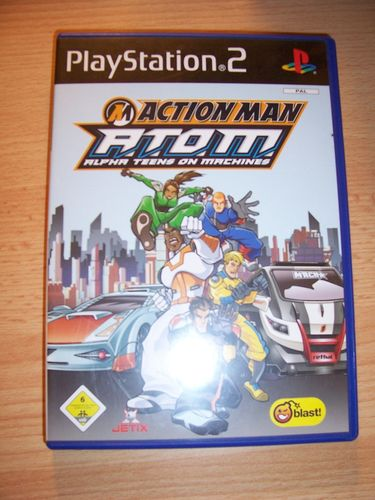 PlayStation 2 PS2 Spiel - Action Man A.T.O.M. Alpha Teens on Machines USK 6 komplett + Anleitu gebr.