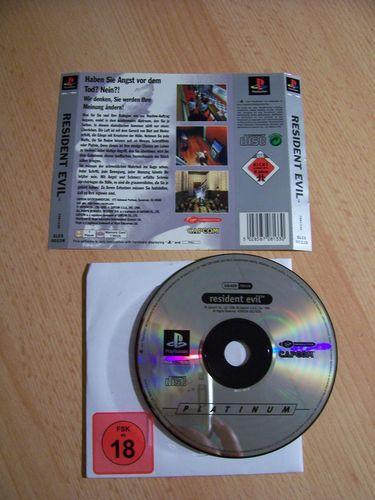 PlayStation 1 PS1 Spiel - Resident Evil 1 Platinum  PSone PSX  USK 18  - nur CD  gebr.