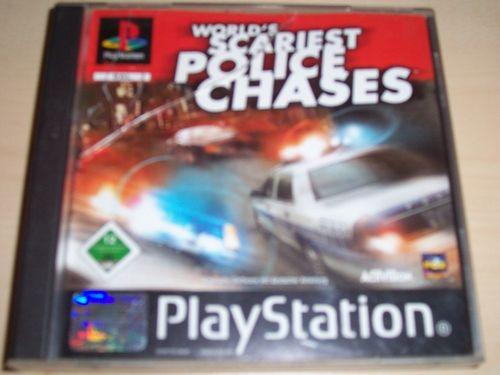 PlayStation 1 PS1 Spiel - World's Scariest Police Chases PSone PSX USK 12 komplett ohne Anleit gebr.