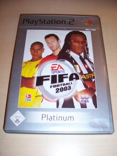 PlayStation 2 PS2 Spiel - FIFA Football 2003 03 Platinum USK 0 komplett + Anleitung gebr.