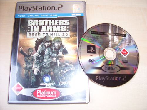 PlayStation 2 PS2 Spiel - Brothers in Arms Road to Hill 30 Platinum USK 18 komplett ohne Anleit gebr