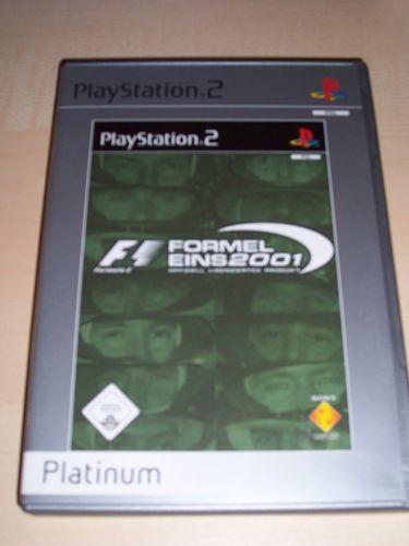 PlayStation 2 PS2 Spiel - Formel Eins 2001  Platinum F1 Formel 1  USK 0 komplett + Anleitung gebr.