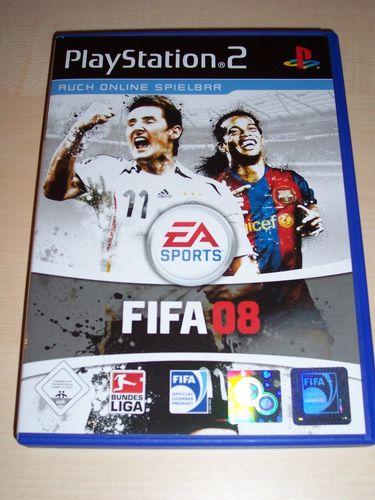 PlayStation 2 PS2 Spiel - FIFA Football 2008 08  USK 0 komplett ohne Anleitung gebr.
