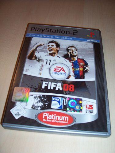 PlayStation 2 PS2 Spiel - FIFA Football 2008 08  Platinum  USK 0 komplett + Anleitung gebr.