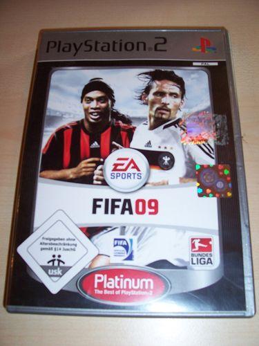 PlayStation 2 PS2 Spiel - FIFA Football 2009 09  Platinum  USK 0 komplett + Anleitung gebr.