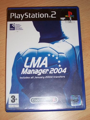 PlayStation 2 PS2 Spiel - LMA Manger 2004 UK Version  USK 0 komplett + Anleitung  gebr.