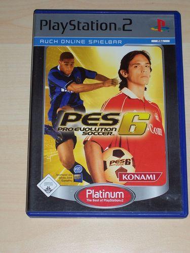 PlayStation 2 PS2 Spiel - Pro Evolution Soccer 2006 PES 6 Platinum  USK 0 komplett + Anleitung gebr.