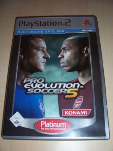PlayStation 2 PS2 Spiel - Pro Evolution Soccer 2005 PES 5 Platinum USK 0 komplett + Anleitung gebr.