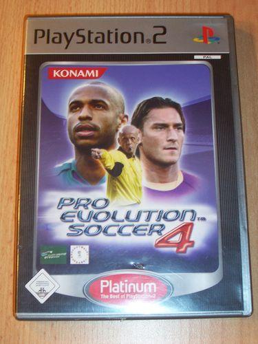 PlayStation 2 PS2 Spiel - Pro Evolution Soccer 2004 PES 4 Platinum USK 0 komplett + Anleitung gebr.
