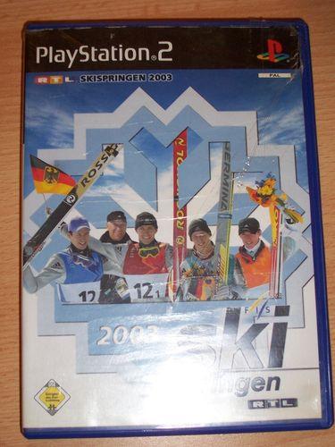 PlayStation 2 PS2 Spiel - RTL Skispringen 2003  USK 0 komplett + Anleitung  gebr.