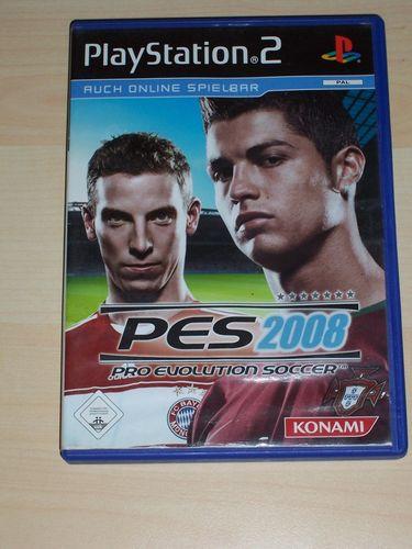 PlayStation 2 PS2 Spiel - Pro Evolution Soccer 2008 PES 8  USK 0 komplett ohne Anleitung gebr.