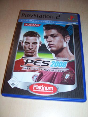 PlayStation 2 PS2 Spiel - Pro Evolution Soccer 2008 PES 8 Platinum USK 0 komplett + Anleitung gebr.