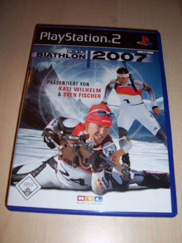 PlayStation 2 PS2 Spiel - RTL Biathlon 2007  USK 0 komplett + Anleitung  gebr.
