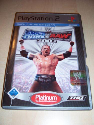 PlayStation 2 PS2 Spiel - WWE SmackDown vs. Raw 2007 Platinum  USK 16 komplett + Anleitung  gebr.