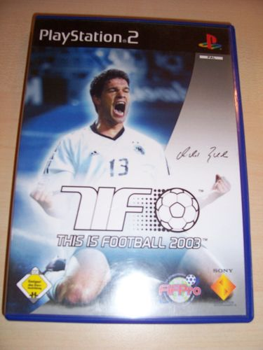 PlayStation 2 PS2 Spiel - TiF This is Football 2003  USK 0 komplett + Anleitung  gebr.