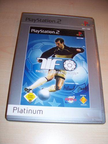 PlayStation 2 PS2 Spiel - TiF This is Football 2002 Platinum  USK 0 komplett + Anleitung  gebr.