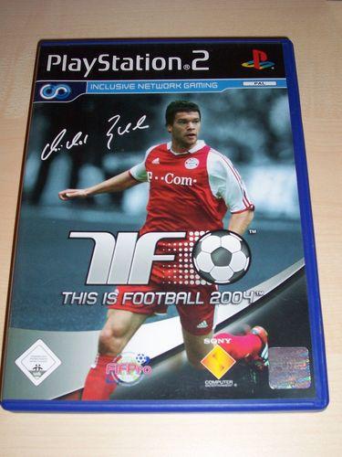 PlayStation 2 PS2 Spiel - TiF This is Football 2004  USK 0 komplett + Anleitung  gebr.