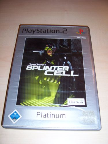 PlayStation 2 PS2 Spiel - Tom Clancy's Splinter Cell 1 Platinum UK USK 16 komplett ohne Anleit gebr.