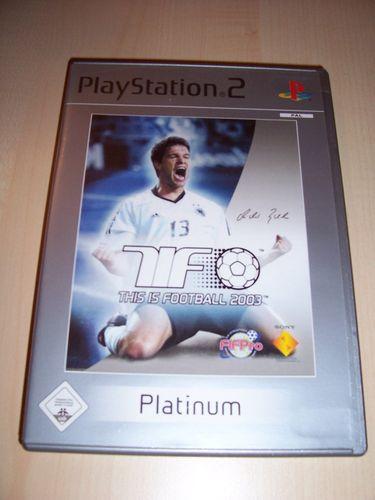 PlayStation 2 PS2 Spiel - TiF This is Football 2003 Platinum  USK 0 komplett + Anleitung  gebr.