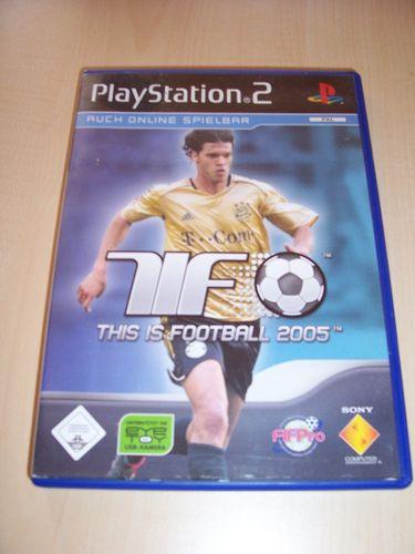 PlayStation 2 PS2 Spiel - TiF This is Football 2005  USK 0 komplett + Anleitung  gebr.