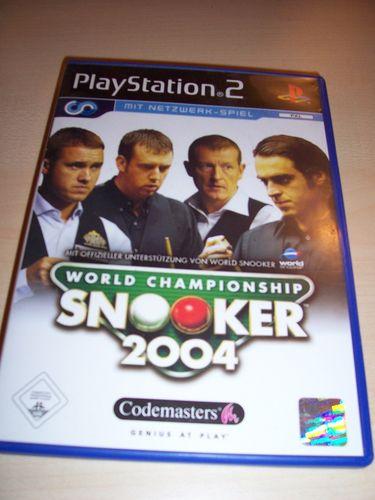 PlayStation 2 PS2 Spiel - World Championship Snooker 2004  USK 0 komplett ohne Anleitung  gebr.