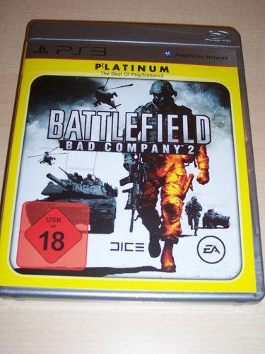 PlayStation 3 PS3 Spiel - Battlefield - Bad Company 2  Platinum  USK 18 komplett + Anleitung  gebr.