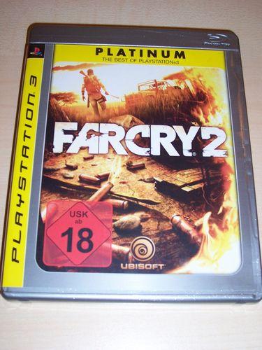 PlayStation 3 PS3 Spiel - Far Cry 2  Platinum FC2  USK 18 komplett + Anleitung  gebr.