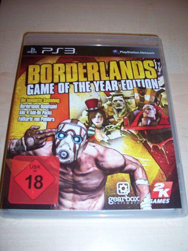 PlayStation 3 PS3 Spiel - Borderlands 1 Game of the Year Edition  USK 18 komplett + Anleitung  gebr.